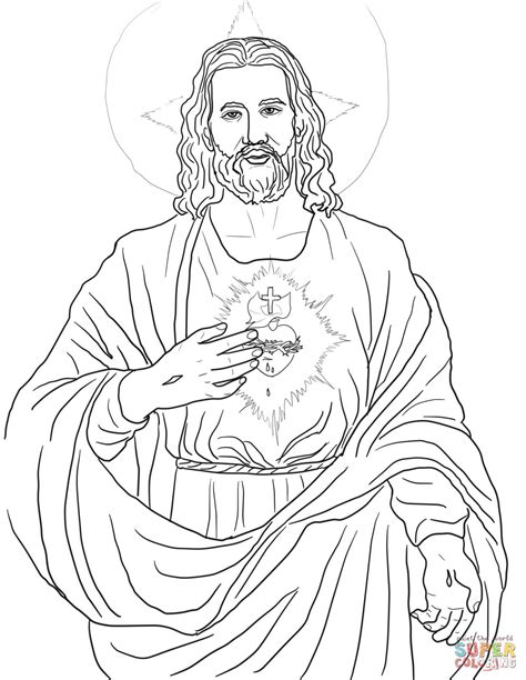 sacred heart coloring page sacred heart coloring page free printable coloring pages