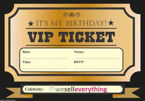 vip pass invitation template 20 vip ticket invite birthday invitations boys
