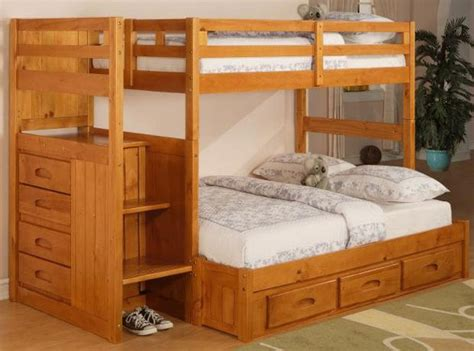 twin full bunk bed with stairs free bunk bed plans full over full quick woodworking projects