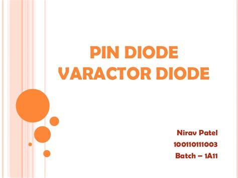 pin diode varactor diode