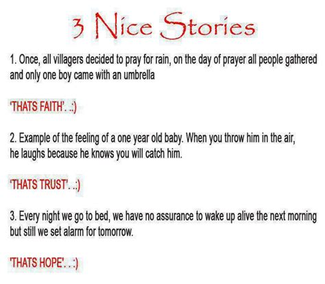 story themes about trust 3 short stories on faith trust and hope dont give up