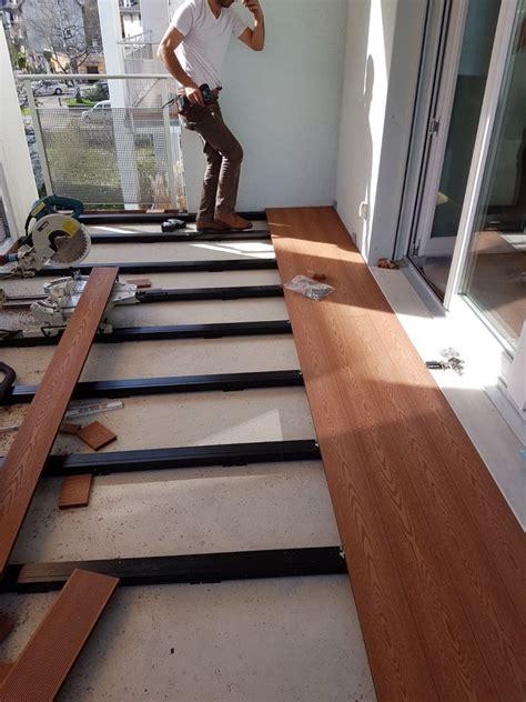 terrassendielen unterkonstruktion balkon wpc dielen balkon iz09 hitoiro