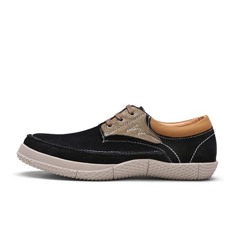 comfortable casual shoes for men mens leasure shoes with 3 colors pigskin v rubber sole