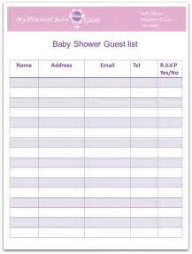 Baby Shower Guest List Template by How To Plan A Baby Shower My Practical Baby Shower Guide