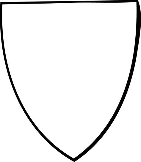 coloring page of a knight s shield stylish design shield coloring page new blank colouring