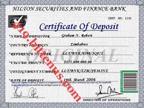certificate of deposit template certificate of deposit sle www pixshark images