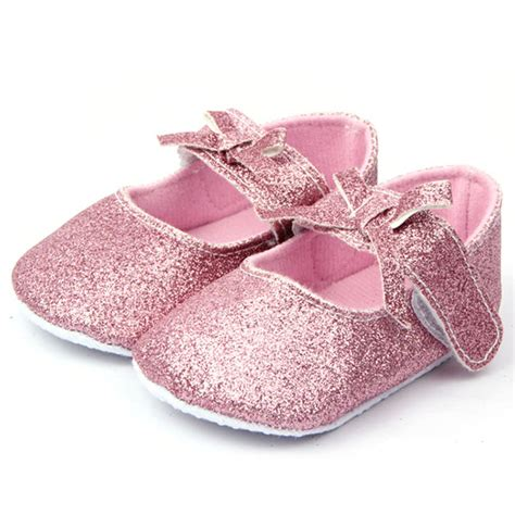 baby canvas shoes toddler bling pink soft non