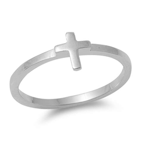 925 Silver Cross Ring cross ring new 925 sterling silver christian band