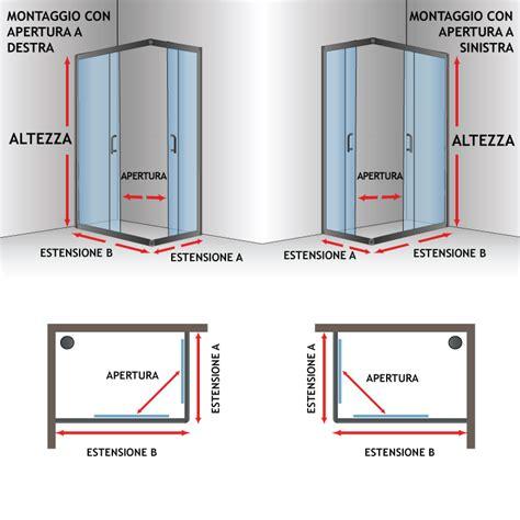 sistemi doccia box doccia cristallo 4 mm 2 lati apertura scorrevole