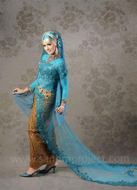 Dress Naila 5warna kombinasi biru dan emas tata rias busana pengantin berjilbab blue and gold