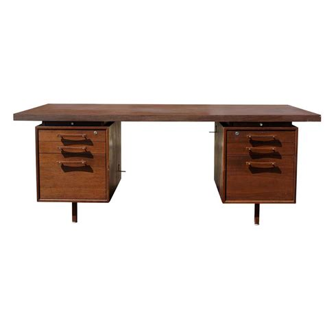 Industrial Office Desks 1 70 Quot Vintage Industrial Office Supply Walnut Desk Ebay