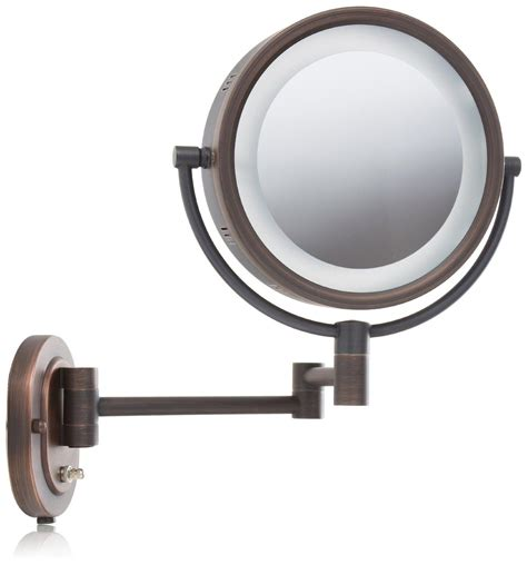 jerdon lighted magnifying mirror amazon com jerdon hl65bz 8 inch lighted wall mount