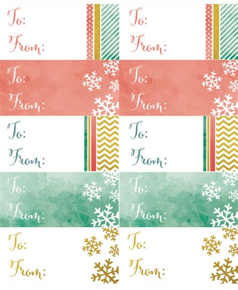 falala designs gift tags labels in a watercolor glitter theme