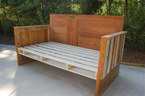 how to make a pallet daybed from old pallets wooden diy upcycled pallet wood daybed 99 pallets
