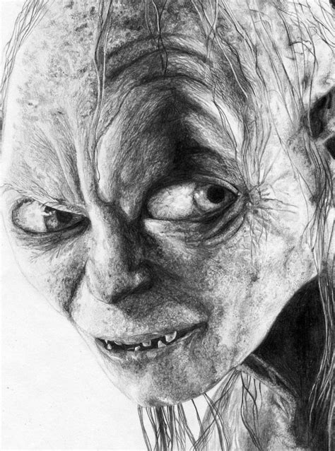 Gollum Pencil Sketch By N00dleincident On Deviantart Painting Sketches For