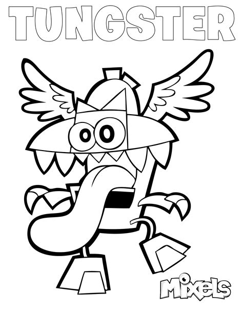 mixels coloring pages my little corner