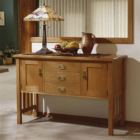 Woodworking Plans For Buffet Table