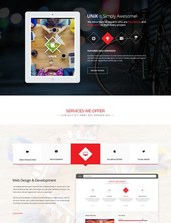 theme wordpress unik portfolio wordpress themes teslathemes