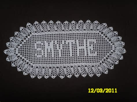 name doily pattern name filet crochet pattern images frompo 1