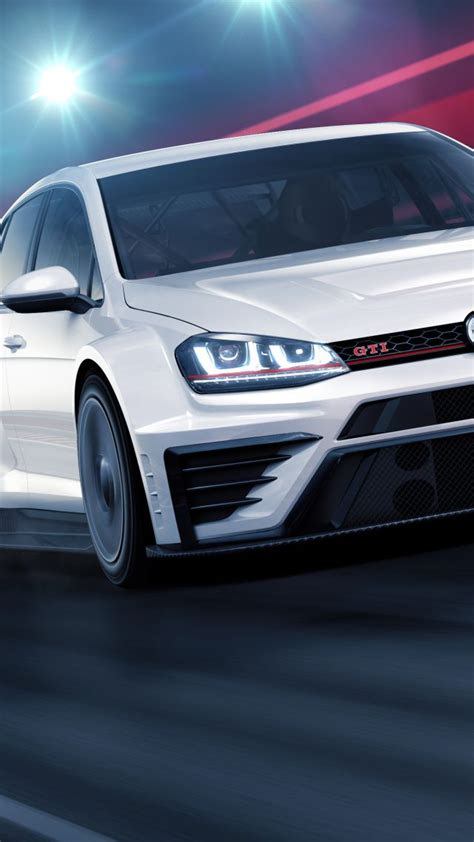 wallpaper volkswagen golf gti tcr racecar white cars