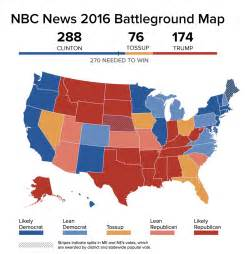 us map and electoral votes clinton surges past 270 electoral votes in nbc news