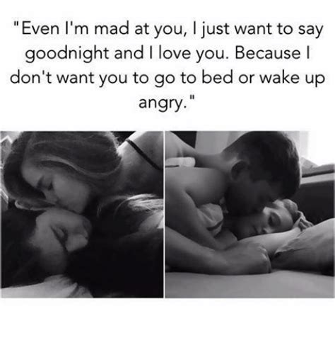 i don t wanna go to bed mad at you even i m mad at you i just want to say goodnight and l