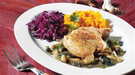 cuisiner haut de cuisse de poulet hauts de cuisse de poulet sauce aux chignons