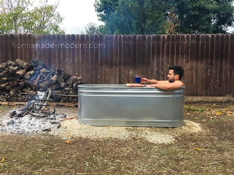 make your bathtub a jacuzzi homemade modern ep112 diy wood fired hot tub