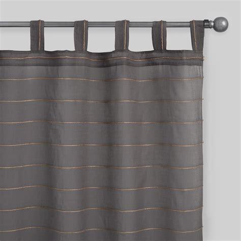 grey tab top curtains gray striped jute sahaj tab top curtains set of 2 world