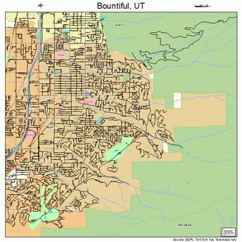 map of utah detailed road map of the state of utah bountiful utah street map 4907690