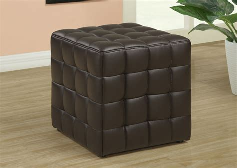 brown fabric ottoman ottoman dark brown leather look fabric accents accent
