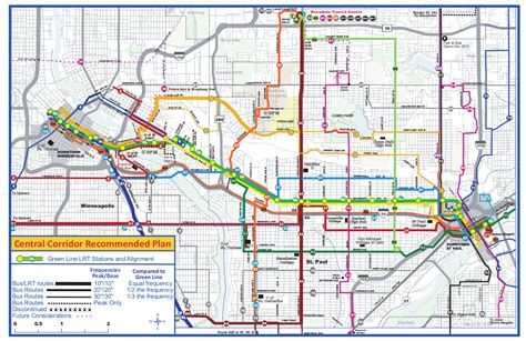 Minneapolis Light Rail Green Line by Metro Transit Tweaks Planned Central Corridor Routes
