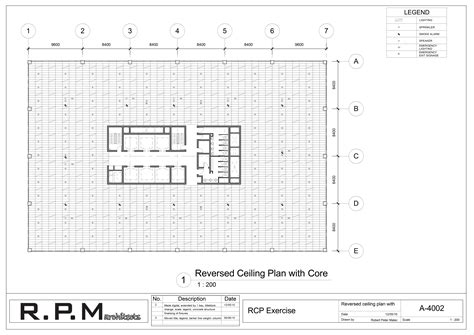 make a blueprint core and ceiling plan 4002 robertpetermalec