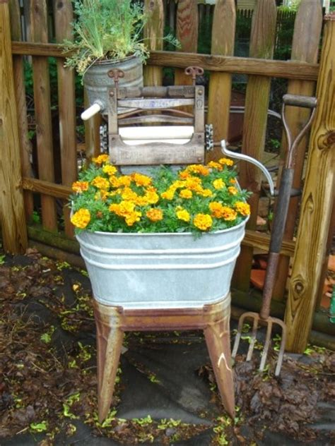 pit galvanized tub 17 best images about wash tubs on gardens
