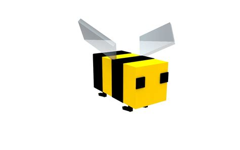 bee mine craft bee minecraft rig 3d model