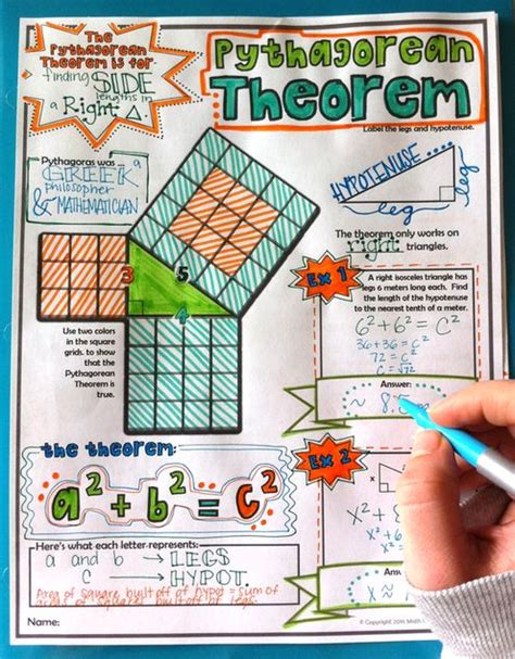 doodle your math book pythagorean theorem doodles and math on