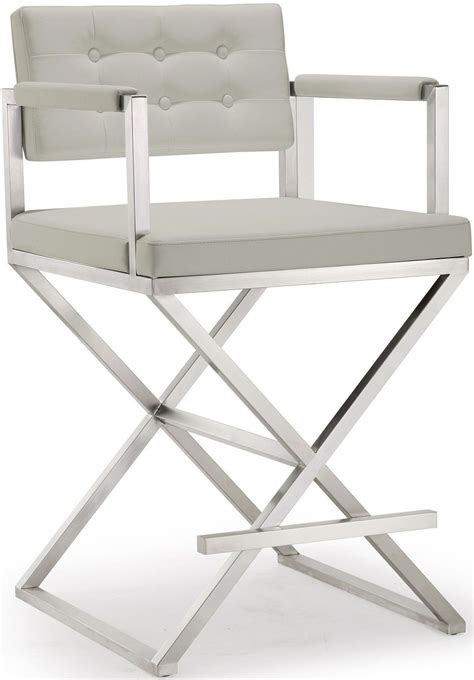 Light Grey Counter Stools by Director Light Grey Steel Counter Stool From Tov Coleman
