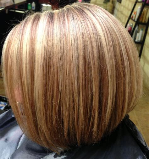 bob hair lowlights blonde highlights inverted bob haircut my style