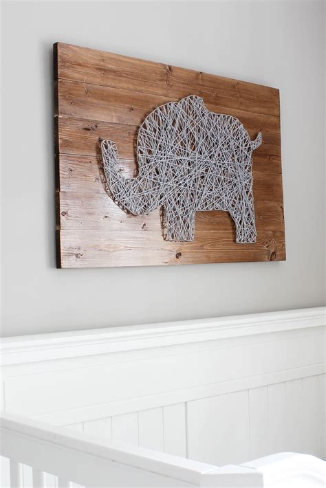 Elephant String - diy nursery string tutorial erin spain