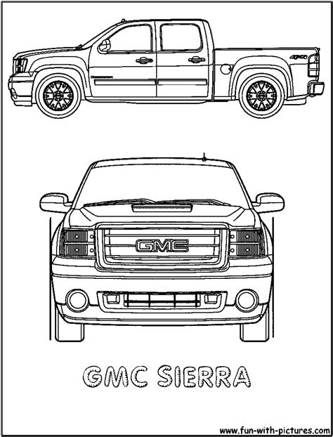 Coloring Pages Gmc Truck | gmc free coloring pages