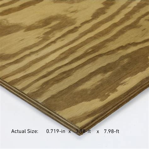 shop severe weather 3 4 in common square southern yellow pine plywood sheathing application as
