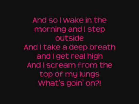 On The Patio Lyrics by 4 Non What S Up Lyrics Metrolyrics