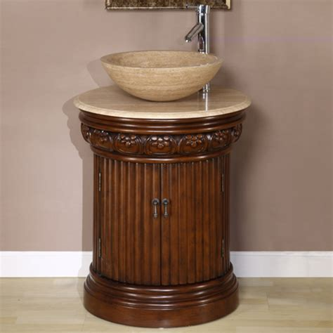 Small Bathroom Vanity With Vessel Sink 24 Inch Small Vessel Sink Vanity In Brown Finish Uvsr0160t24