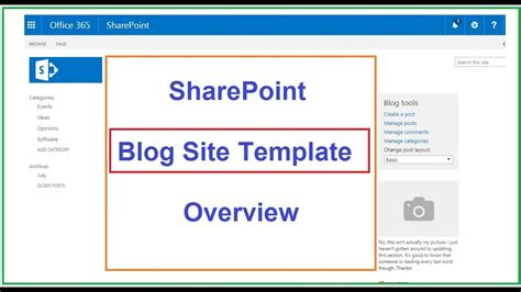 blogsite templates sharepoint site template site template overview