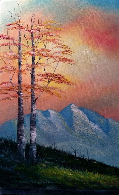 bob ross painting birch trees experience the of painting the bob ross way class