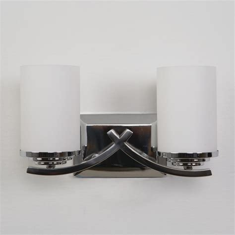 Yosemite Home Decor Vanity Lighting Family 2 Light Chrome Bathroom Vanity Light Shades