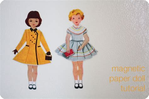 diy magnetic paper dolls mittens and hat from recycled sweater free sewing pattern