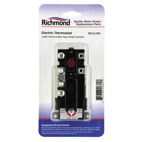 wiring diagram for richmond water heater thermostat