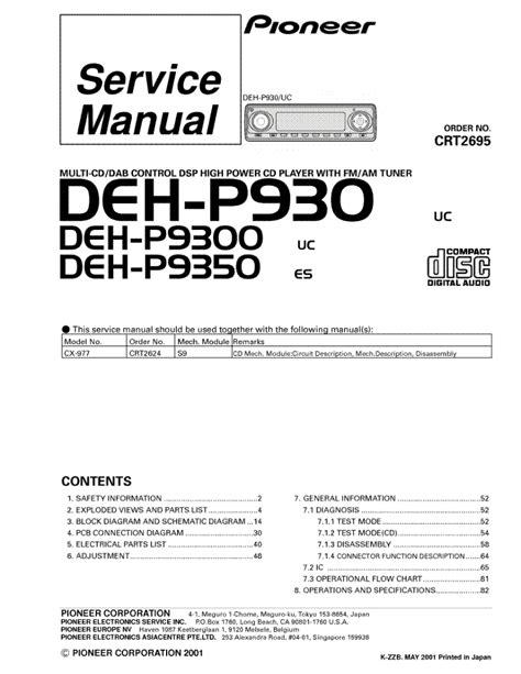 pioneer deh 1400 wiring diagram pioneer deh 14 manual