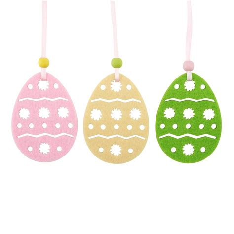 set of 18 egg easter decorations by the chicken and the